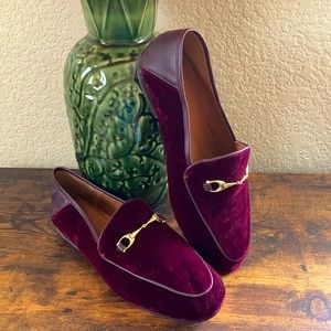 NEW Coach Haley velvet & leather loafers